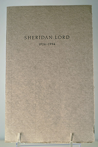 Image for IN MEMORY OF SHERIDAN LORD (Signed)