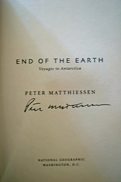 Image for End of The Earth: Voyage to Antartica (Signed First Print)
