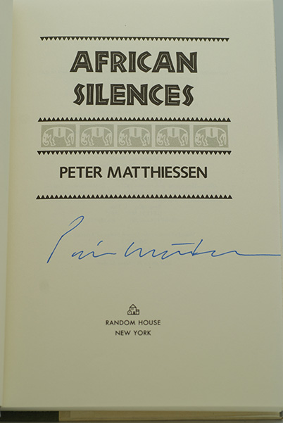 Image for African Silences (Signed 1st Printing)