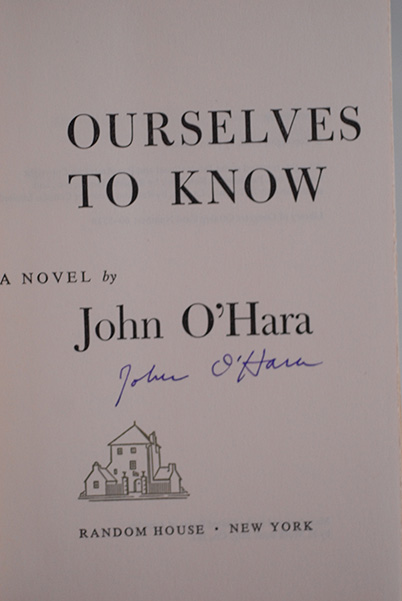 Image for Ourselves To Know (Signed 1st Printing)