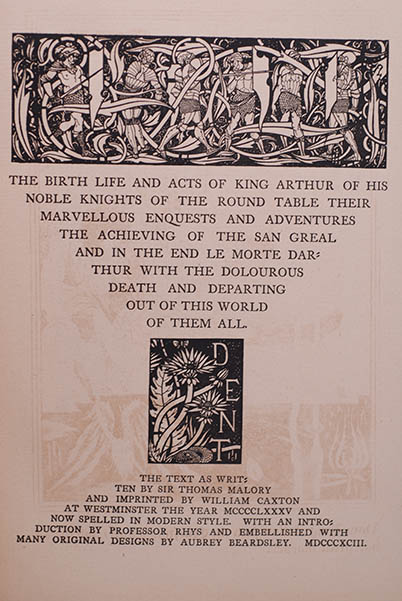 Image for Le Morte D'Arthur (1st Limited Printing 1894)