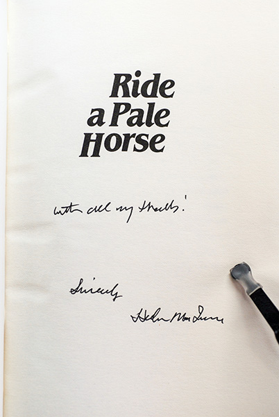 Image for Ride A Pale Horse (Signed 1st Printing)