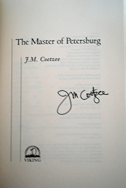 Image for The Master Of Petersburg (Signed 1st Printing