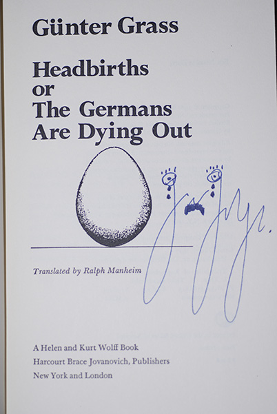 Image for Headbirths or The Germans Are Dying Out (Signed 1st Printing)