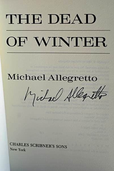 Image for The Dead of Winter (Signed 1st Printing)