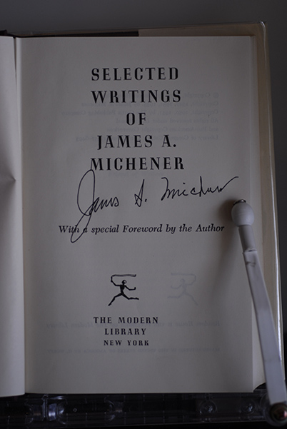 Image for Selected Writings of James A. Michener (Signed by Michener)