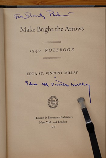 Image for Make Bright The Arrows (Signed & Inscribed to Humorist Dorothy Parker)