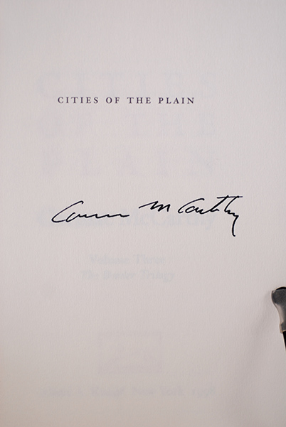 Image for Cities of The Plain: A Novel (Border Trilogy, Vol 3) (Signed)