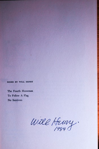Image for The Fourth Horseman (Author's Personal Copy--Signed & Dated)