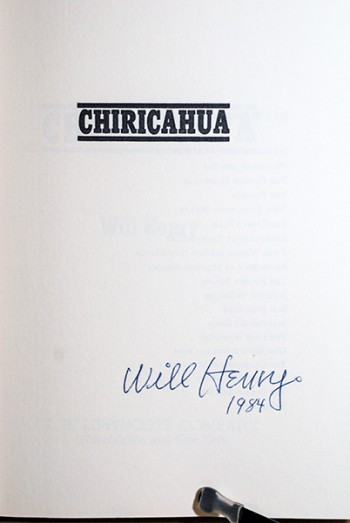 Image for Chiricahua (Author's Personal Copy--Signed & Dated)