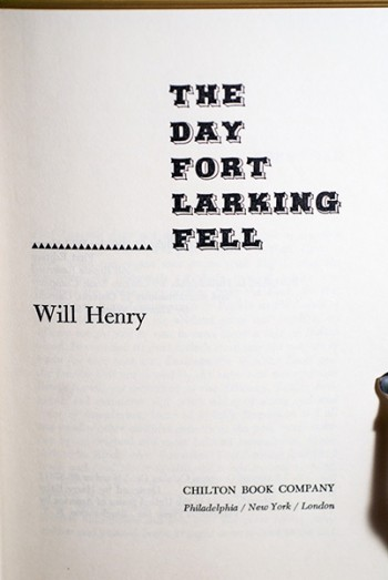 Image for The Day Fort Larking Fell (Author's Personal Copy--Signed & Dated)
