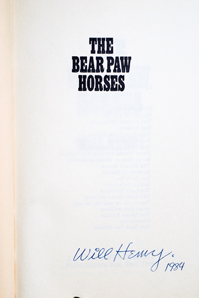 Image for The Bear Paw Horses (Author's Personal Copy--Signed & Dated)