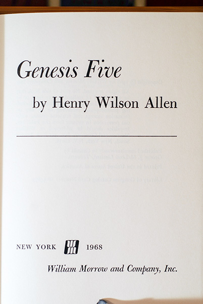Image for Genesis Five (From The Author's Personal Collection-Signed & Dated)